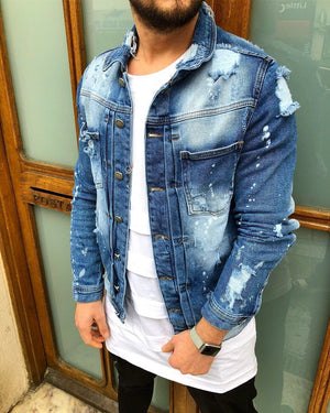 Denim Jacket B76 Streetwear Denim Jacket - Sneakerjeans