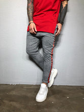 Load image into Gallery viewer, Gray Checkered Striped Jogger Pant BL209 Streetwear Jogger Pants - Sneakerjeans