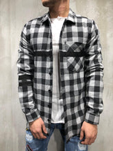 Load image into Gallery viewer, Black White Checkered Oversized Shirt A250 Streetwear Shirt