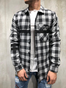 Black White Checkered Oversized Shirt A250 Streetwear Shirt