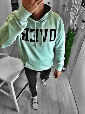 Mint Over Printed Hoodie S168 Streetwear Hoodies - Sneakerjeans