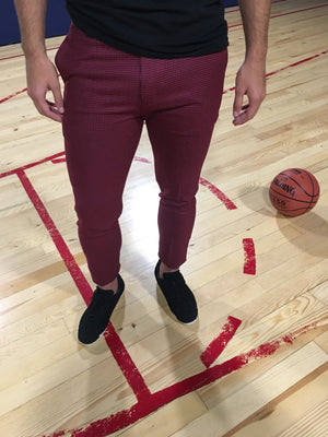 Red Slim Fit Casual Pant MS251 Streetwear Pant - Sneakerjeans