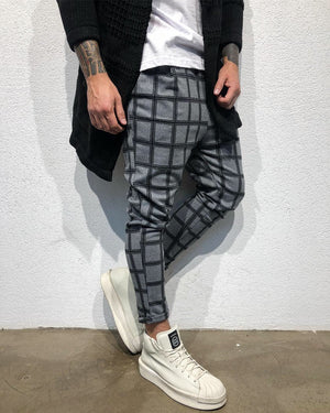 Gray Checkered Baggy Jogger Pant B316 Streetwear Jogger Pants - Sneakerjeans