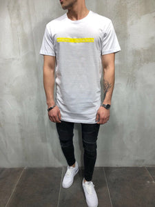 White Printed Oversize T-Shirt A21 Streetwear T-Shirts