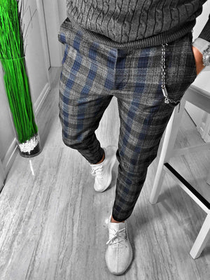 Checkered Casual Jogger Pant S152 Streetwear Casual Jogger Pants - Sneakerjeans