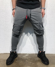 Load image into Gallery viewer, Gray Ribbons Jogger Pant B124 Streetwear Jogger Pants