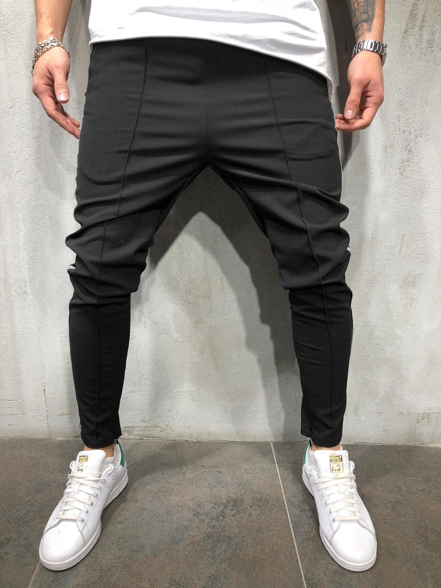 Black Side Striped Casual Jogger Pant A298 Streetwear Jogger Pants - Sneakerjeans