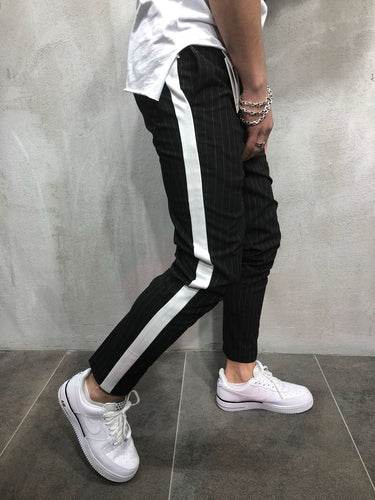Black Side Striped Casual Jogger Pant A109 Streetwear Jogger Pants