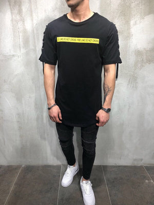 Eyelet Printed Oversize T-Shirt A24 Streetwear T-Shirts - Sneakerjeans