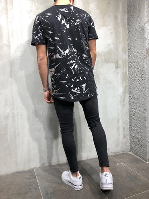 Black Printed Oversize T-Shirt A22 Streetwear T-Shirts - Sneakerjeans