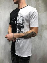 Load image into Gallery viewer, Black & White Oversize Skull Printed T-Shirt AY333 Streetwear T-Shirts