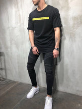 Load image into Gallery viewer, Eyelet Printed Oversize T-Shirt A24 Streetwear T-Shirts