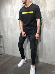Eyelet Printed Oversize T-Shirt A24 Streetwear T-Shirts