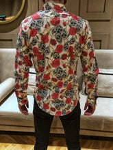 Load image into Gallery viewer, Rose Skulls Printed Shirt OT5 Streetwear Shirt