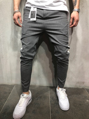 Gray Side Striped Casual Jogger Pant A113 Streetwear Jogger Pants - Sneakerjeans