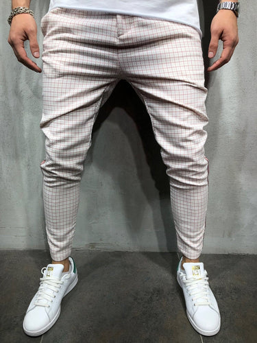 Pink Side Striped Casual Jogger Pant A145 Streetwear Jogger Pants