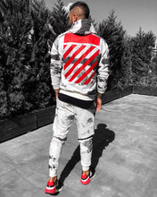 Load image into Gallery viewer, White Printed Camouflage Tracksuit Gymwear Set B255 Streetwear Tracksuit Jogger Set