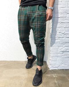 Green Checkered Jogger Pant B141 Streetwear Jogger Pants - Sneakerjeans
