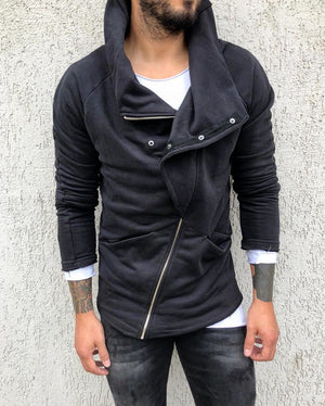 Black Turtle Diagonal Jacket B299 Streetwear Jacket - Sneakerjeans