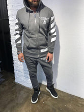 Load image into Gallery viewer, Gray Printed Tracksuit Gym Set SJ261 Streetwear Tracksuits