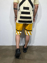 Load image into Gallery viewer, Yellow Striped Sweat Short B179 Streetwear Sweat Shorts