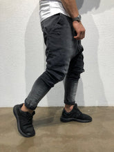 Load image into Gallery viewer, Gray Asymetric Baggy Denim B175 Streetwear Baggy Jeans