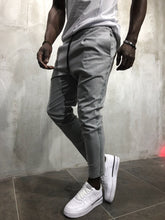 Load image into Gallery viewer, Light Gray Banding Casual Jogger Pant A56 Streetwear Jogger Pants