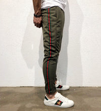 Load image into Gallery viewer, Khaki Striped Jogger Pant B147 Streetwear Jogger Pants