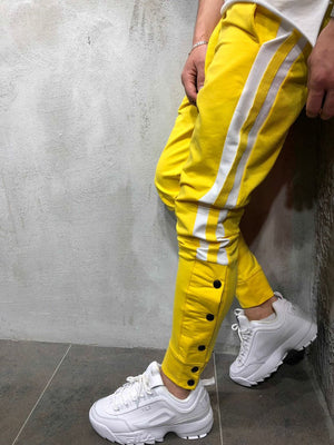 Yellow White Striped Jogger Pant A132 Streetwear Jogger Pants - Sneakerjeans