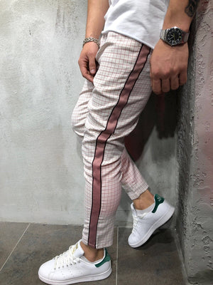 Pink Side Striped Casual Jogger Pant A145 Streetwear Jogger Pants - Sneakerjeans