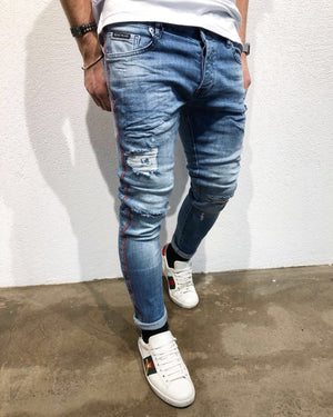 Sneakerjeans Side Striped Skinny Jeans B65 - Sneakerjeans