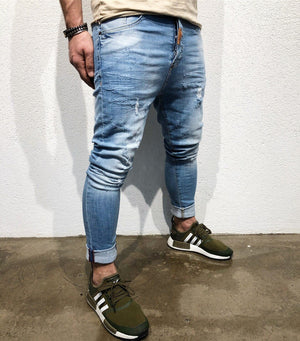 Blue Slim Fit Denim B108 Streetwear Denim Jeans - Sneakerjeans