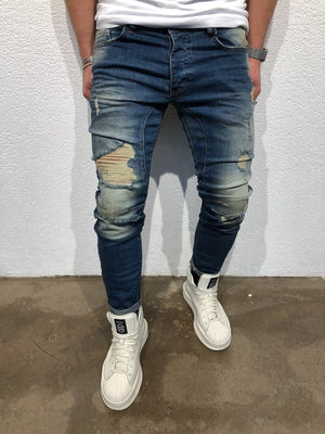 Sneakerjeans Blue Ripped Jeans B73 - Sneakerjeans