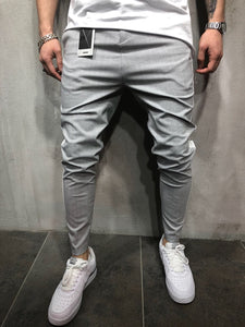 Light Gray Side Striped Casual Jogger Pant A111 Streetwear Jogger Pants