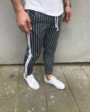 Load image into Gallery viewer, Gray Striped Jogger Pant HB1 Streetwear Jogger Pants - Sneakerjeans