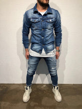 Load image into Gallery viewer, Printed Denim Jacket B79 Streetwear Denim Jacket
