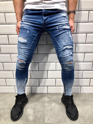 Sneakerjeans Double Coloured Skinny Jeans B84 - Sneakerjeans