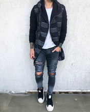Load image into Gallery viewer, Washed Ripped Skinny Fit Denim B272 Streetwear Jeans