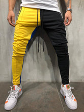 Load image into Gallery viewer, Yellow Black Colour Block Jogger Pant 3964 Streetwear Jogger Pants
