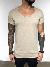 Load image into Gallery viewer, Beige Plain T-Shirt BL245 Streetwear T-Shirts
