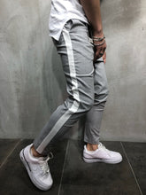Load image into Gallery viewer, Light Gray Side Striped Casual Jogger Pant A111 Streetwear Jogger Pants