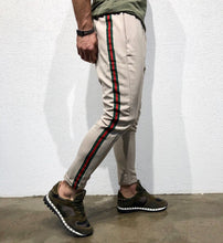 Load image into Gallery viewer, Beige Striped Jogger Pant B146 Streetwear Jogger Pants