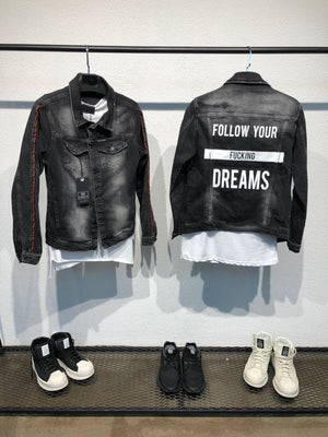 Printed Denim Jacket B80 Streetwear Denim Jacket - Sneakerjeans
