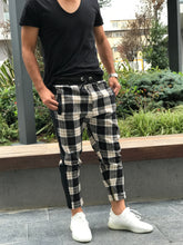 Load image into Gallery viewer, Checker Brown Side Line Zipper Jogger Pants SNJ114 Streetwear Jogger Pants
