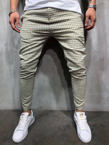 Cream Side Striped Casual Jogger Pant A146 Streetwear Jogger Pants