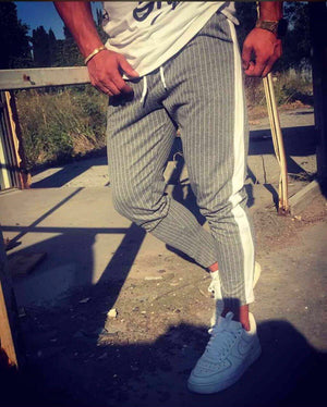 Anthracite Side Striped Jogger Pant HB8 Streetwear Jogger Pants - Sneakerjeans