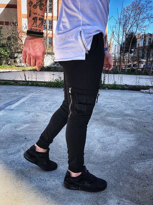 Black Side Pockets Jogger Pant DM3 Streetwear Jogger Pants - Sneakerjeans