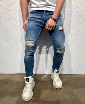 Sneakerjeans Blue Ripped Jeans B88 - Sneakerjeans