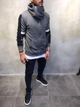 Load image into Gallery viewer, Gray Big Hoodie Jacket SJ208 Streetwear Sweatshirt