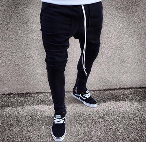 Black Banding Big Pocket Jogger Pant HB18 Streetwear Jogger Pants